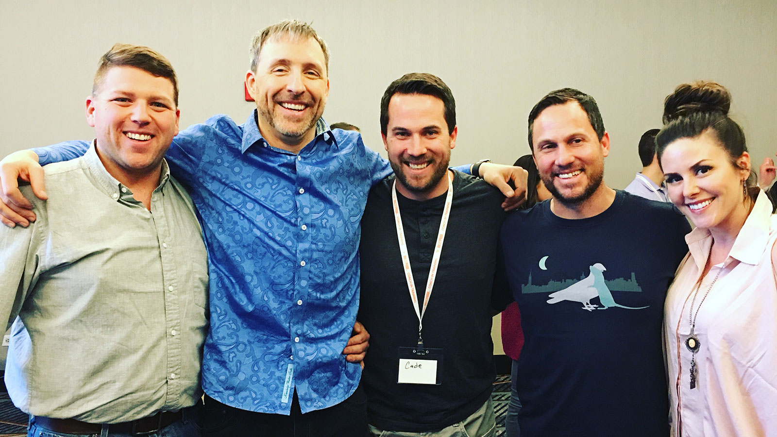 From left: Ryan Killarney, Dave Asprey, Cade Archibald, Regan Archibald & Jessica Davalos