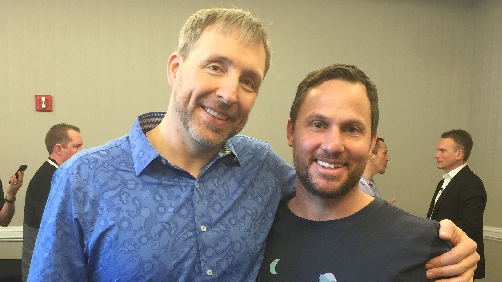 Regan and Dave Asprey at the Bulletproof Biohacking Conference