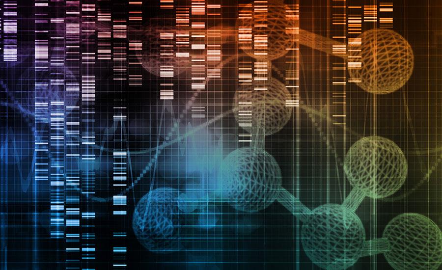 futuristic computerized graphic of stem cells